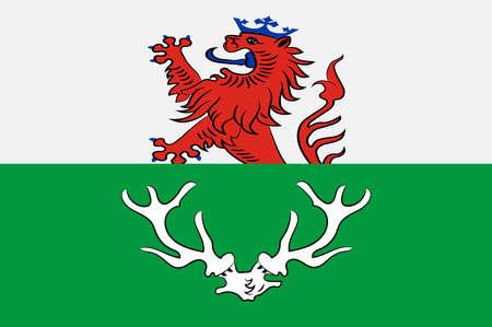 Flag of Odenthal is a municipality in the Rheinisch-Bergischer Kreis, in North Rhine-Westphalia, Germany. Illustration