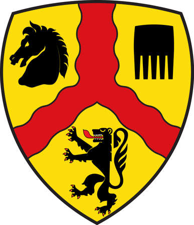 Coat of arms of Harsewinkel is a town in Guetersloh District in the state of North Rhine-Westphalia, Germany.