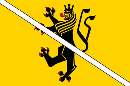 Flag of Gangelt is a municipality in the district of Heinsberg, in North Rhine-Westphalia, Germany. Illustration