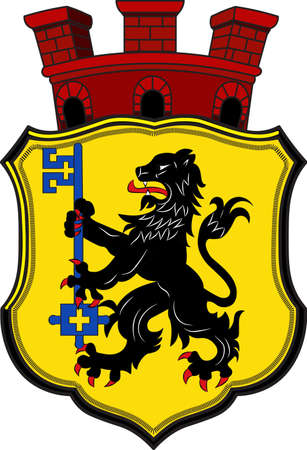 Coat of arms of Eschweiler is a municipality in the district of Aachen in North Rhine-Westphalia in Germany.