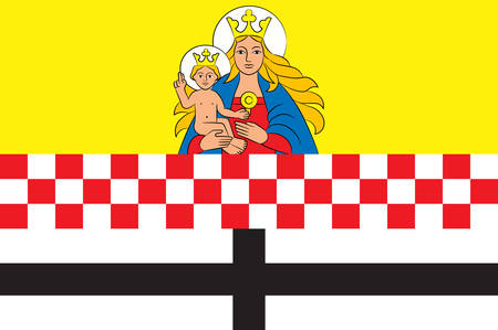 Flag of Neuenrade is a town in North Rhine-Westphalia, Germany, located in the hills of the Sauerland in the Maerkischer Kreis.