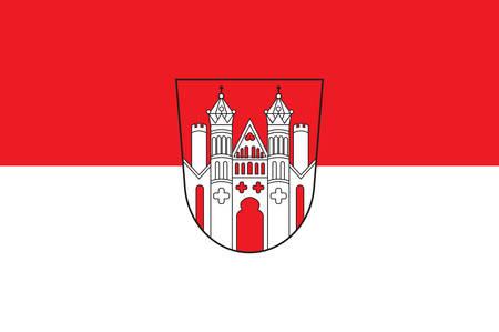 Flag of Hoexter is a town in eastern North Rhine-Westphalia, Germany.