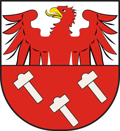 Coat of arms of Dahlem is a municipality in the district of Euskirchen of North Rhine-Westphalia, Germany. Illustration