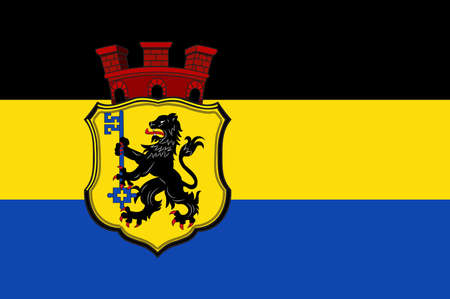 Flag of Eschweiler is a municipality in the district of Aachen in North Rhine-Westphalia in Germany.