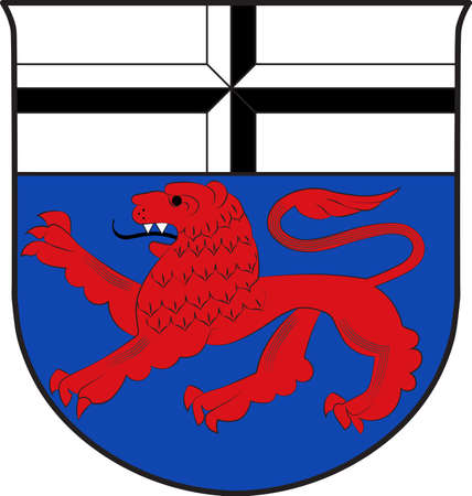 Coat of arms of Bonn is a municipal district of Bonn in North Rhine-Westphalia in Germany. Illustration