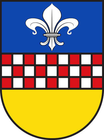 Coat of arms of Breckerfeld is a town in the district of Ennepe-Ruhr-Kreis, in North Rhine-Westphalia, Germany. Illustration