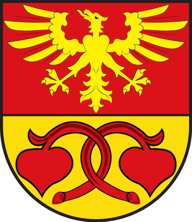 Coat of arms of Rietberg is a town in the district of Guetersloh in the state of North Rhine-Westphalia, Germany.
