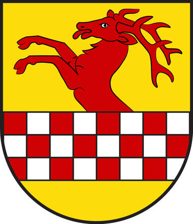 Coat of arms of Herscheid is a municipality in the southern Maerkischer Kreis, in North Rhine-Westphalia, Germany. Vector illustration Illustration