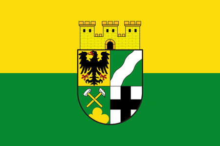 Flag of Wuerselen is a town in the borough of Aachen, in North Rhine-Westphalia, Germany. Vector illustration Illustration