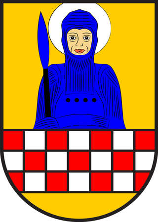 Coat of arms of Froendenberg is a town in the district of Unna, in North Rhine-Westphalia, Germany. Vector illustration Illustration