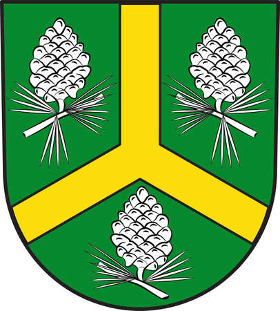 Coat of arms of Huertgenwald is a municipality in the district of Dueren in the federal state of North Rhine-Westphalia, Germany. Vector illustration