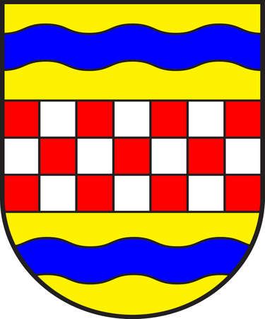 Coat of arms of Ennepe-Ruhr-Kreis is a district in the center of North Rhine-Westphalia, Germany. Vector illustration.