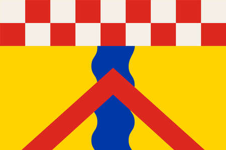 Flag of Ennepetal is a town in the district of Ennepe-Ruhr-Kreis, in North Rhine-Westphalia, Germany. Vector illustration.