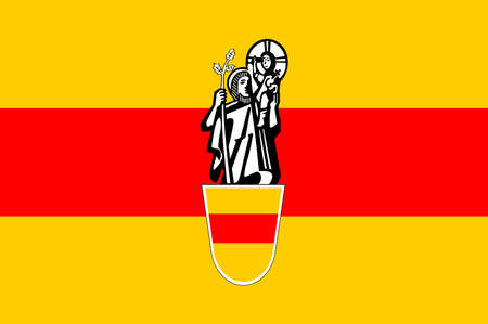 Flag of Werne is a town in the Federal state of North Rhine-Westphalia in the Unna district in Germany. Vector illustration. Illustration
