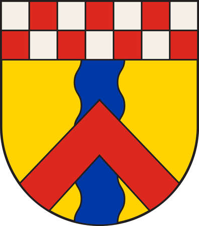 Coat of arms of Ennepetal is a town in the district of Ennepe-Ruhr-Kreis, in North Rhine-Westphalia, Germany vector illustration.