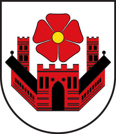 Coat of arms of Lippstadt is a town in North Rhine-Westphalia, Germany vector illustration. Illustration