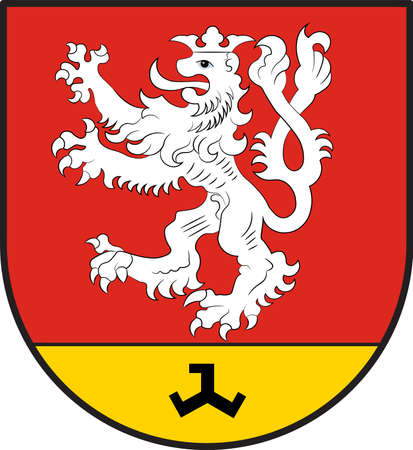 Coat of arms of Waldfeucht is a municipality in the district Heinsberg, in North Rhine-Westphalia, Germany vector illustration.