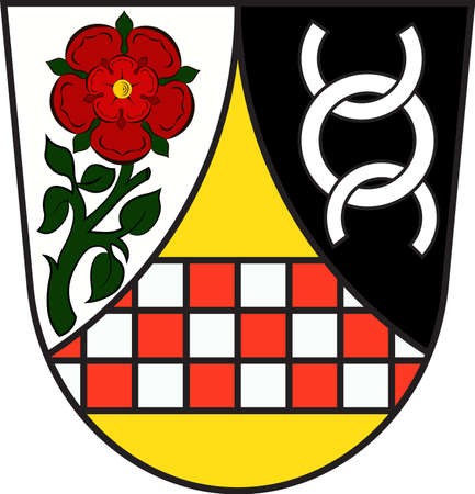 Coat of arms of Werdohl is a town in the district Maerkischer Kreis, in North Rhine-Westphalia, Germany vector illustration.