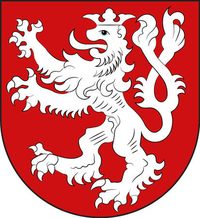 Coat of arms of Heinsberg is a town in Heinsberg district in the west of North Rhine-Westphalia, Germany. Vector illustration