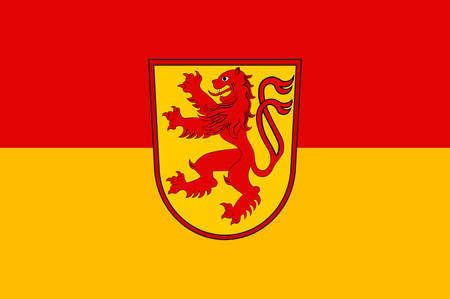 Flag of Luenen is a town in North Rhine-Westphalia, Germany. Vector illustration