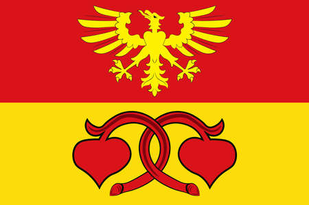 Flag of Rietberg is a town in the district of Guetersloh in the state of North Rhine-Westphalia, Germany. Vector illustration