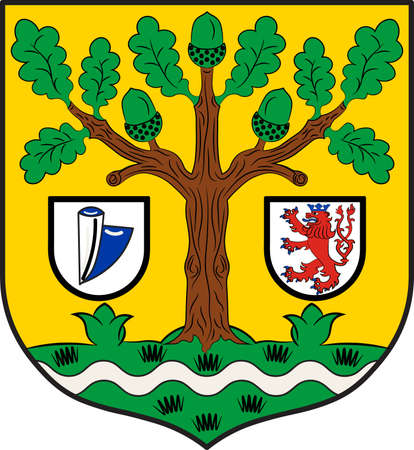 Coat of arms of Waldbroel is a town in the southern part of the Oberbergischer district in North Rhine-Westphalia, Germany. Vector illustration