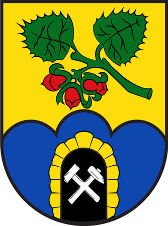 Coat of arms of Sprockhoevel is a town in the district of Ennepe-Ruhr-Kreis, North Rhine-Westphalia, Germany. Vector illustration