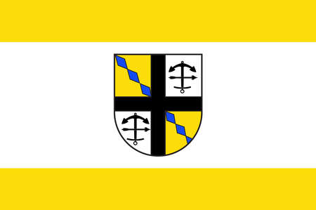 Flag of Drolshagen is a town belonging to the district of Olpe in the Regierungsbezirk of Arnsberg in North Rhine-Westphalia, Germany. Vector illustration