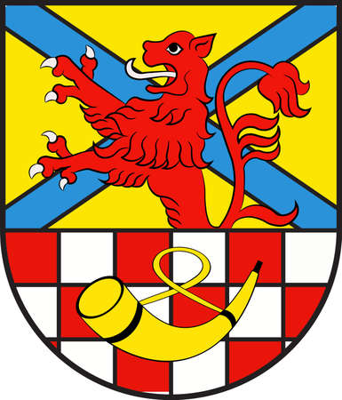 Coat of arms of Meinerzhagen is a town in the Maerkischer Kreis, North Rhine-Westphalia, Germany. Vector illustration
