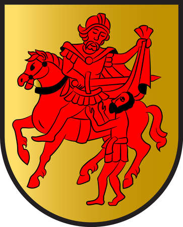 Coat of arms of Sendenhorst is a town in the district of Warendorf, in North Rhine-Westphalia, Germany. Vector illustration