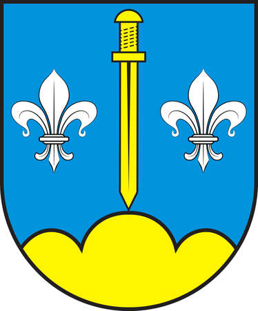 Coat of arms of Stemwede is a municipality in the Minden-Luebbecke district, in North Rhine-Westphalia, Germany. Vector illustration