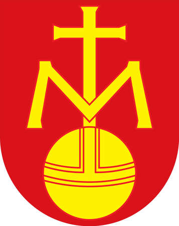 Coat of arms of Metelen is a municipality in North Rhine-Westphalia, Germany. Vector illustration