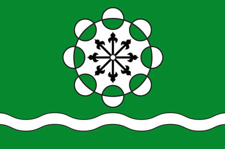 Flag of Hamminkeln is a town in the district of Wesel, in North Rhine-Westphalia, Germany. Vector illustration