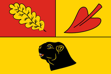 Flag of Hoerstel is a town in the district of Steinfurt, in North Rhine-Westphalia, Germany. Vector illustration Illustration