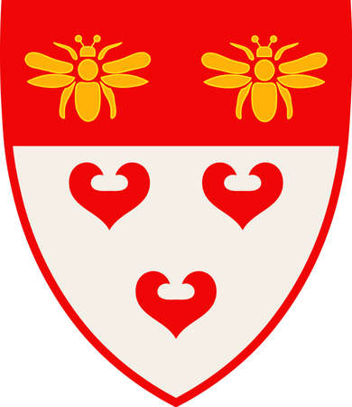 Coat of arms of Ladbergen is a municipality in the district of Steinfurt, in North Rhine-Westphalia, Germany. Vector illustration