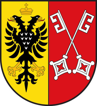 Coat of arms of Minden is a town in the north-east of North Rhine-Westphalia, Germany. Vector illustration