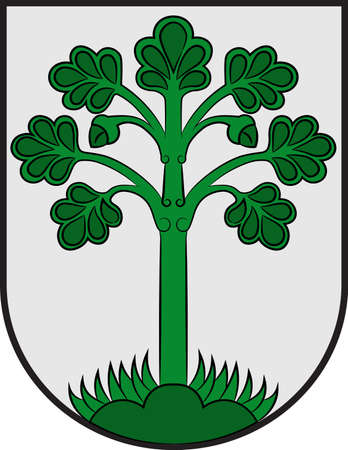 Coat of arms of Telgte is a town in the Warendorf district, North Rhine-Westphalia, Germany. Vector illustration