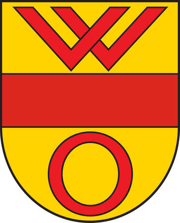 Coat of arms of Olfen is a town in the district of Coesfeld, in North Rhine-Westphalia, Germany. Vector illustration