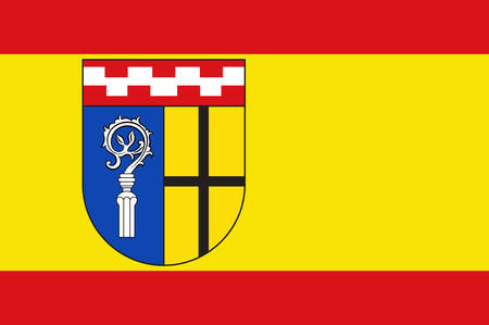Flag of Moenchengladbach formerly known as Muenchen-Gladbach is a city in North Rhine-Westphalia, Germany. Vector illustration