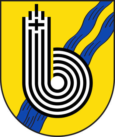 Coat of arms of Borchen is a municipality in the district of Paderborn, in North Rhine-Westphalia, Germany. Vector illustration