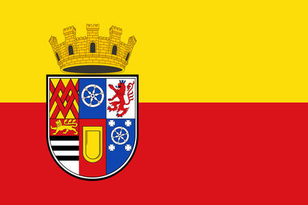 Flag of Muelheim is a city in North Rhine-Westphalia in Germany. Vector illustration Illustration