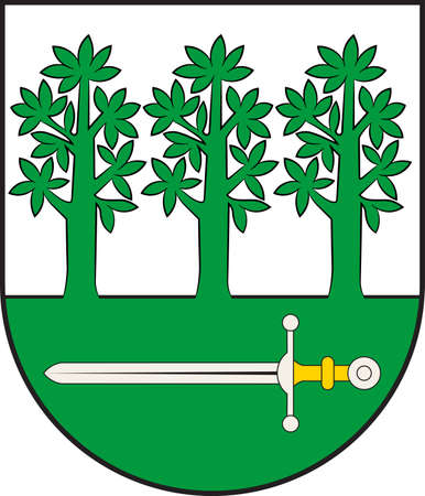 Coat of arms of Nordwalde is a municipality in the district of Steinfurt, in North Rhine-Westphalia, Germany. Vector illustration Illustration