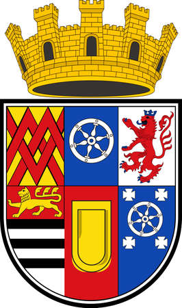 Coat of arms of Muelheim is a city in North Rhine-Westphalia in Germany. Vector illustration Illustration