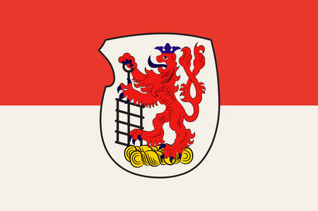 Flag of Wuppertal is a city in North Rhine-Westphalia, Germany. Vector illustration