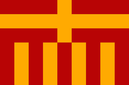Flag of Paderborn is a city in eastern North Rhine-Westphalia, Germany. Vector illustration Illustration
