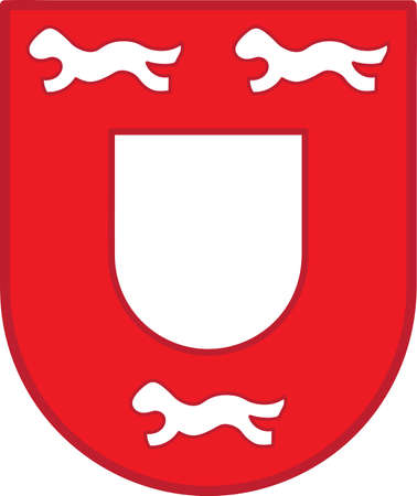 Coat of arms of Wesel is a city in North Rhine-Westphalia, Germany. Vector illustration Illustration