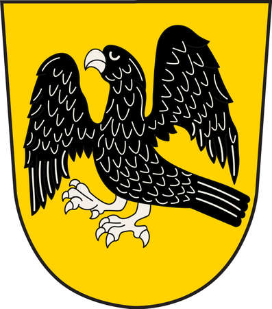 Coat of arms of Laer is a municipality in the district of Steinfurt, in North Rhine-Westphalia, Germany. Vector illustration Illustration