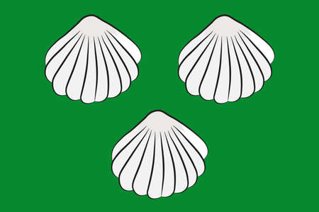 Flag of Ennigerloh is a town in the district of Warendorf, in North Rhine-Westphalia, Germany. Vector illustration