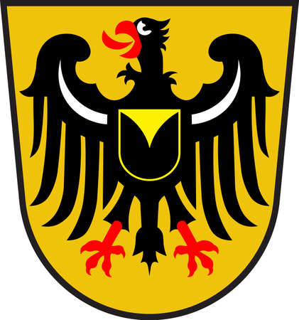 Coat of arms of Waltrop is a town in the district of Recklinghausen, in North Rhine-Westphalia, Germany. Vector illustration