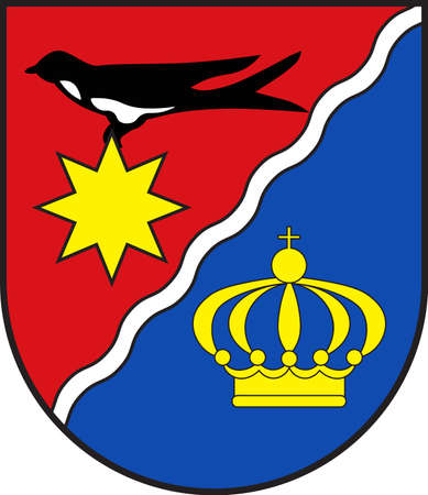 Coat of arms of Schieder-Schwalenberg is a town in the Lippe district, in North Rhine-Westphalia, Germany. Vector illustration